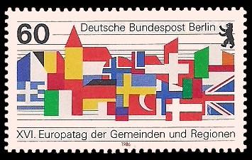 60 Pf Briefmarke: Europatag der Gemeinden und Regionen