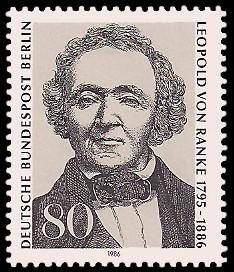 80 Pf Briefmarke: 100. Todestag Leopold von Ranke