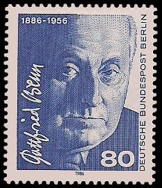 80 Pf Briefmarke: 100. Geburtstag Gottfried Benn