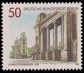 50 Pf Briefmarke: Tore in Berlin