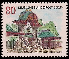 80 Pf Briefmarke: Tore in Berlin