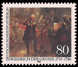 80 Pf Briefmarke: 200. Todestag Friedrich der Große