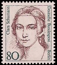 80 Pf Briefmarke: Frauen der deutschen Geschichte