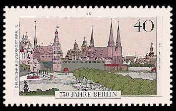 40 Pf Briefmarke: 750 Jahre Berlin