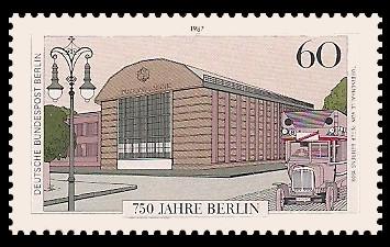 60 Pf Briefmarke: 750 Jahre Berlin