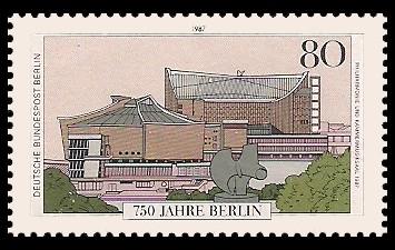 80 Pf Briefmarke: 750 Jahre Berlin