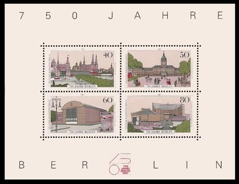 Briefmarke: Block - 750 Jahre Berlin