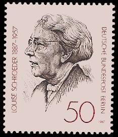 50 Pf Briefmarke: 100. Geburtstag Louise Schroeder