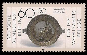 60 + 30 Pf Briefmarke: Wohlfahrtsmarke 1987, Geschmiedetes aus Gold + Silber