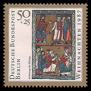 50 + 25 Pf Briefmarke: Weihnachtsmarke 1987