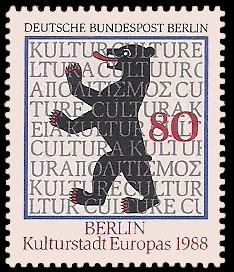 80 Pf Briefmarke: Berlin, Kulturhauptstadt Europas