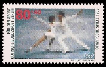 80 + 40 Pf Briefmarke: Für den Sport 1988