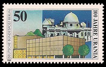 50 Pf Briefmarke: 100 Jahre Urania