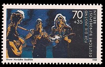 70 + 35 Pf Briefmarke: Für die Jugend 1988, Jugend musiziert