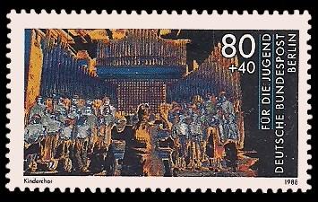 80 + 40 Pf Briefmarke: Für die Jugend 1988, Jugend musiziert
