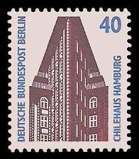 40 Pf Briefmarke: Serie Sehenswürdigkeiten