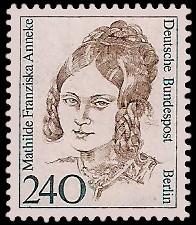 240 Pf Briefmarke: Frauen der deutschen Geschichte