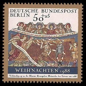 50 + 25 Pf Briefmarke: Weihnachtsmarke 1988
