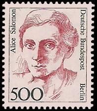 500 Pf Briefmarke: Frauen der deutschen Geschichte