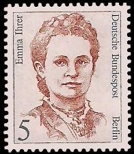 5 Pf Briefmarke: Frauen der deutschen Geschichte