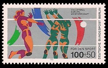 100 + 50 Pf Briefmarke: Für den Sport 1989
