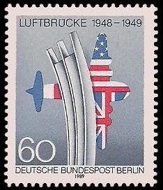 60 Pf Briefmarke: Jahrestag Berliner Luftbrücke