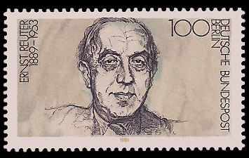 100 Pf Briefmarke: 100. Geburtstag Ernst Reuter