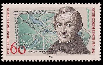 60 Pf Briefmarke: 200. Geburtstag Peter Joseph Lenne