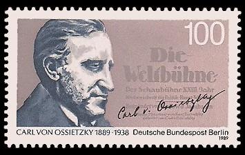 100 Pf Briefmarke: 100.Geburtstag Carl von Ossietzky