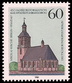 60 Pf Briefmarke: 450 Jahre Reformation im Kurfürstentum Brandenburg