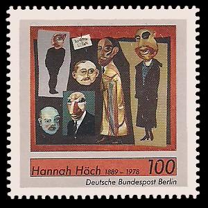 100 Pf Briefmarke: 100. Geburtstag Hannah Höch