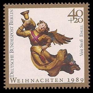 40 + 20 Pf Briefmarke: Weihnachtsmarke 1989, Engel