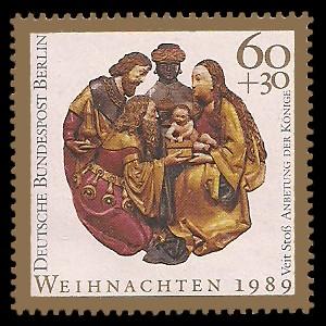 60 + 30 Pf Briefmarke: Weihnachtsmarke 1989, Könige