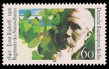 60 Pf Briefmarke: 150. Geburtstag Ernst Rudorff