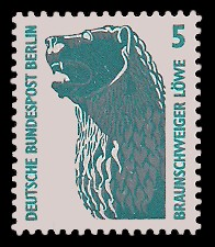 5 Pf Briefmarke: Serie Sehenswürdigkeiten