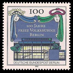100 Pf Briefmarke: 100 Jahre Freie Volksbühne Berlin