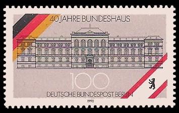 100 Pf Briefmarke: 40 Jahre Bundeshaus