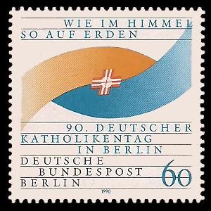 60 Pf Briefmarke: 90. Deutscher Katholikentag