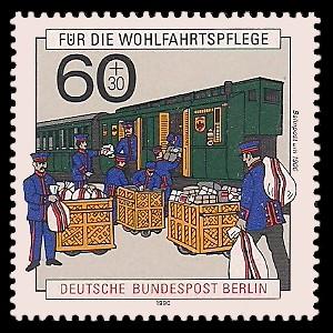 60 + 30 Pf Briefmarke: Wohlfahrtsmarke 1990, Post
