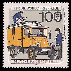 100 + 50 Pf Briefmarke: Wohlfahrtsmarke 1990, Post