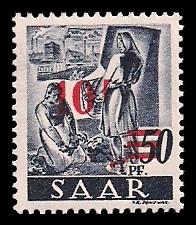 Saar Briefmarke