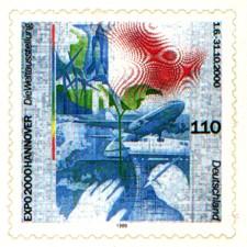 selbstklebende Briefmarke